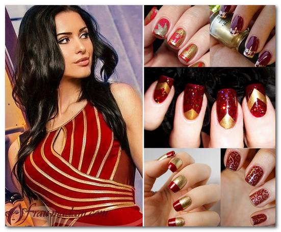 цвет ногтей под красное платье
