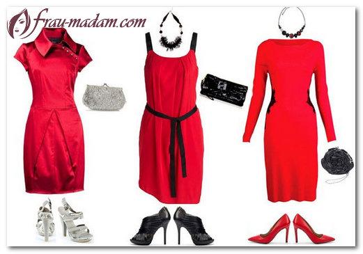 Как выбрать туфли под платье красного цвета?