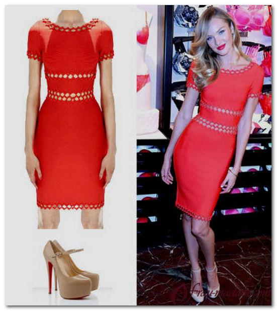 какого цвета туфли подойдут к красному платью