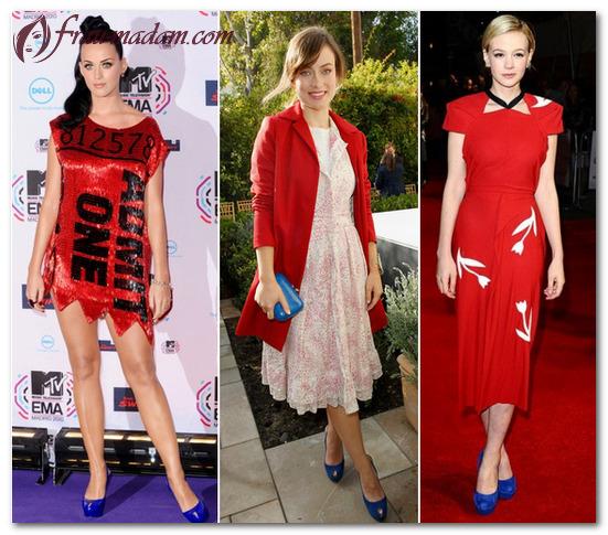 обувь к красному платью