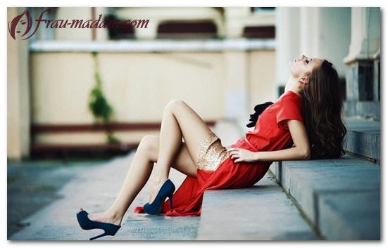 какие туфли одеть под красное платье