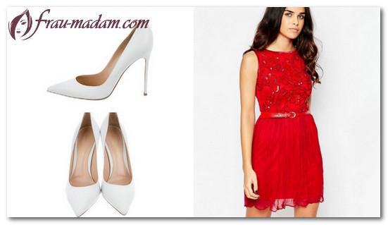 цвет туфлей под красное платье