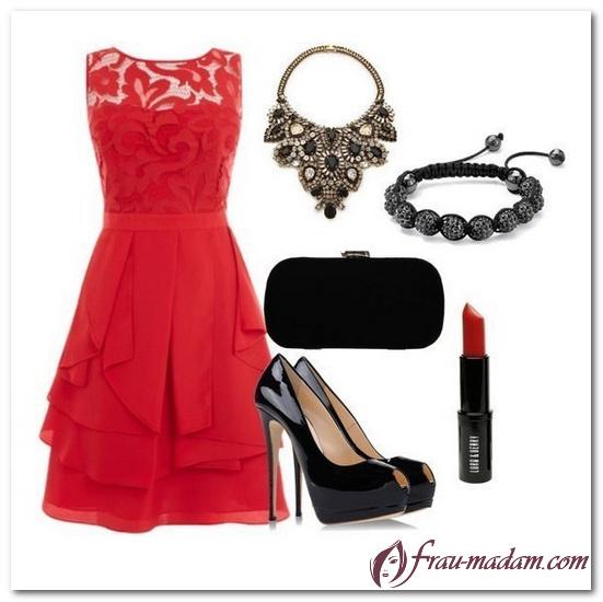 клатч к красному платью