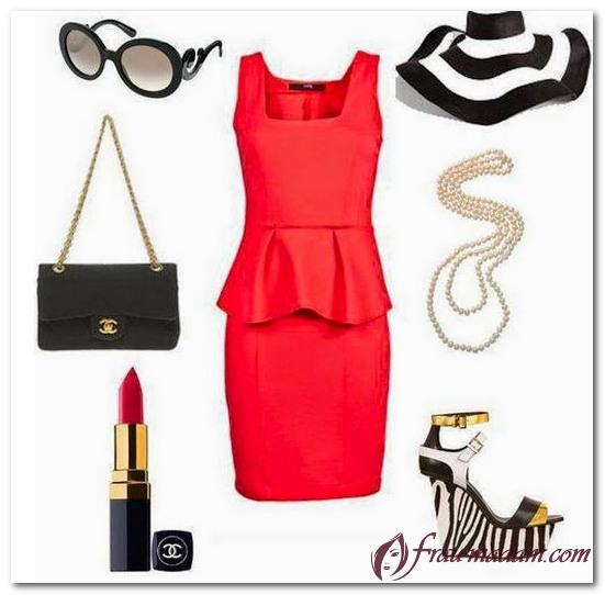 украшение на шею к красному платью фото