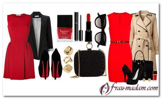 бижутерия к красному платью фото