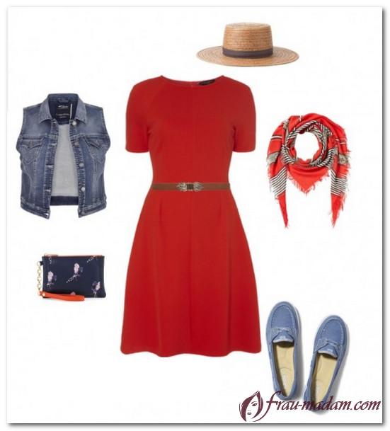 бижутерия под красное платье