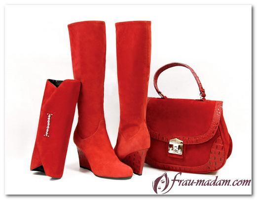 с чем носить красные сапоги