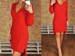 С чем носить красное платье: из трикотажа, вязанное крючком (фото)