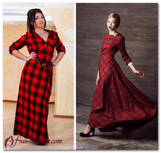 образ в красном платье фото
