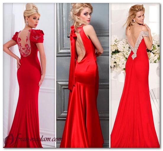 красное платье в пол фото