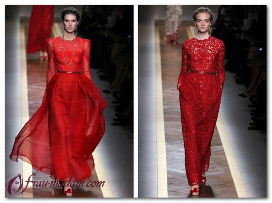 красные платья длинные вечерние