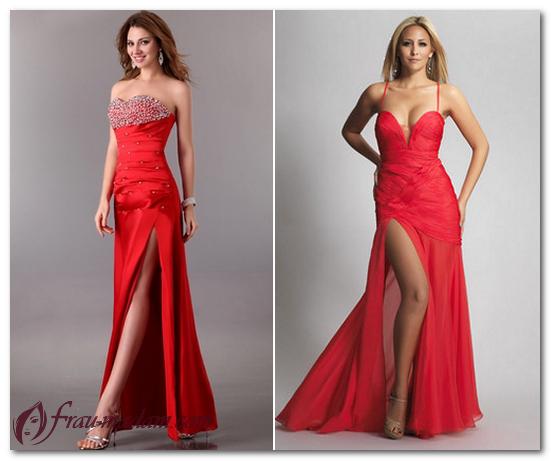 картинки красное платье в пол