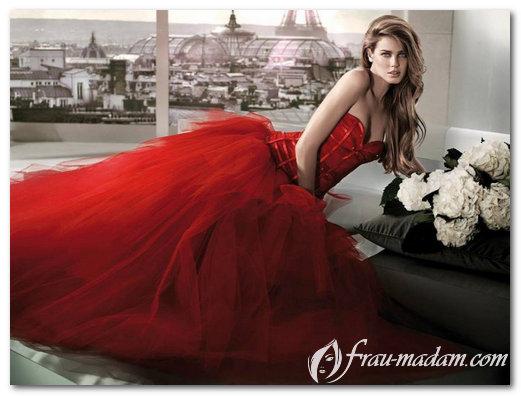 Красное свадебное платье  фото eaa3854c97701