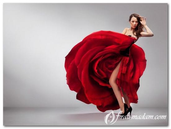 свадебные платья красного цвета фото