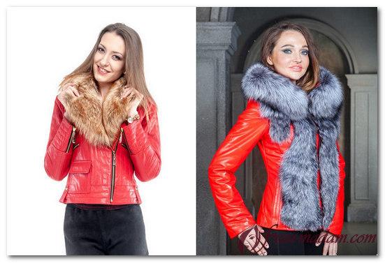 с чем носить красную куртку зимнюю