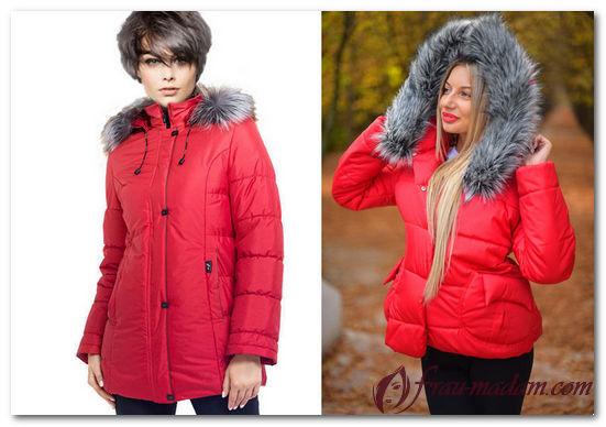красная зимняя куртка с чем носить фото