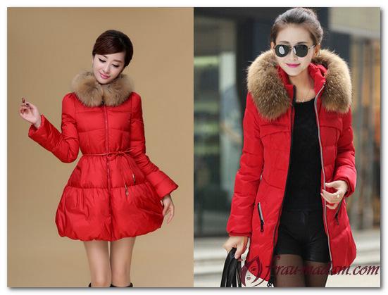 куртки женские красного цвета