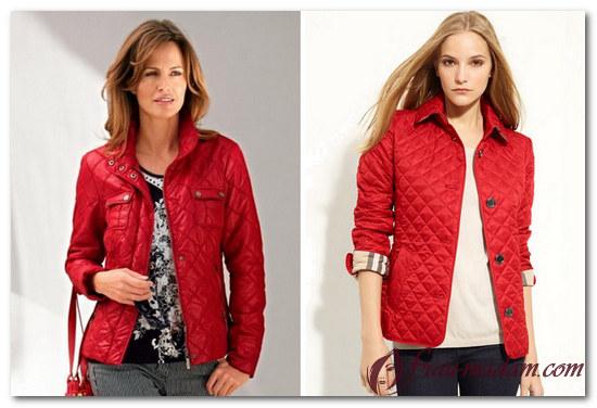 сочетание с красной курткой