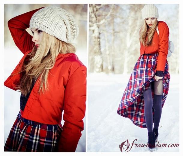 какой цвет шапки под красную куртку