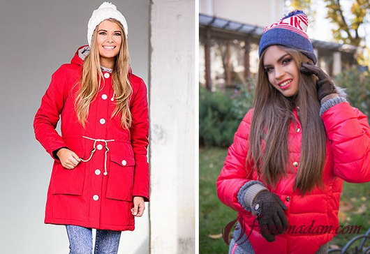 какой шарф подойдёт к красной куртке фото