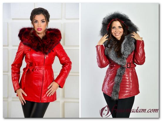 красные куртки женские фото