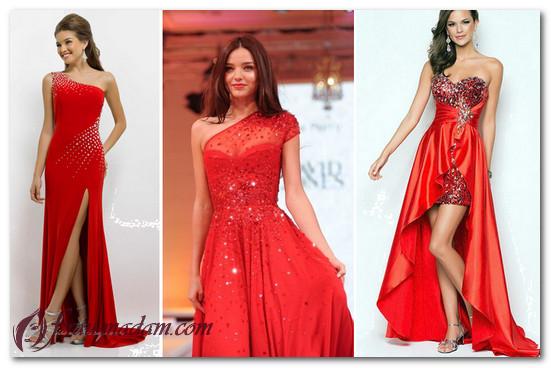 красное кружевное платье фото