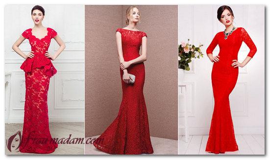 платье в пол красного цвета фото