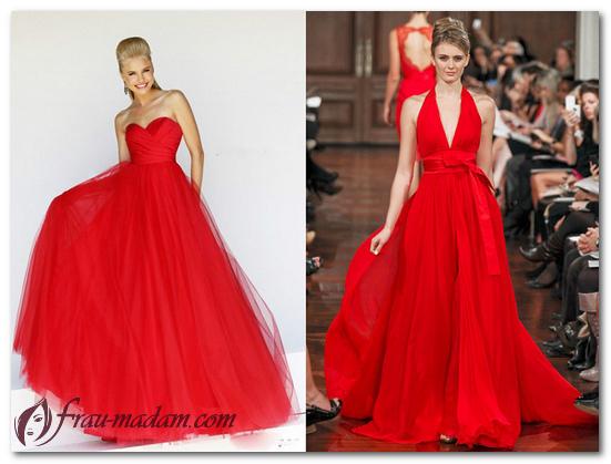 красивые платья красного цвета