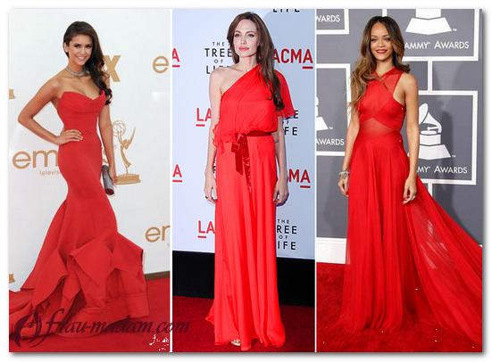 платья красные с вышивкой