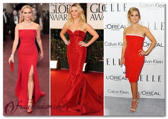 самые красивые красные платья