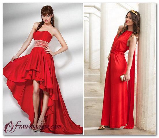 Платья облегчение фото красного цвета