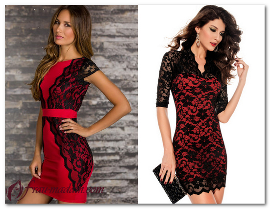 красное платье с чем сочетать