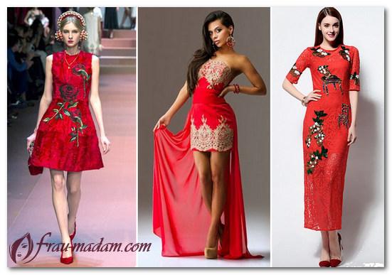 платья красного цвета фото