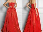 Красное платье из бархата, велюровое и замшевое: фото нарядов