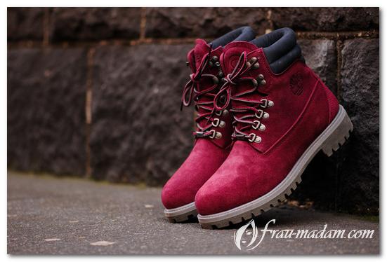 тимберленд красные ботинки