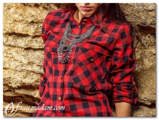 Красная рубашка в клетку: с чем правильно носить?