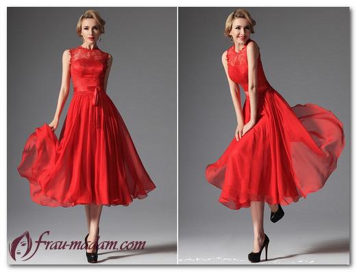 Красивое и сексуальное красное коктейльное платье: с чем носить (фото)?