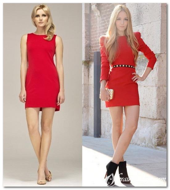 Образы с коктейльными красными платьями 2017