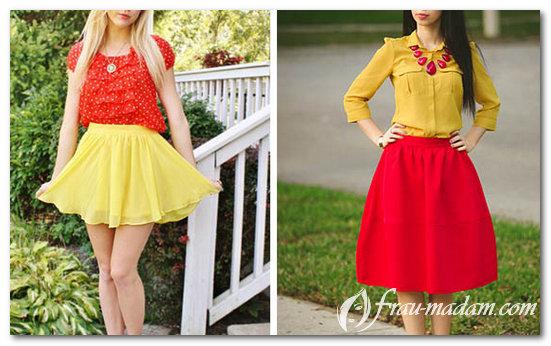 красные платья с желтым