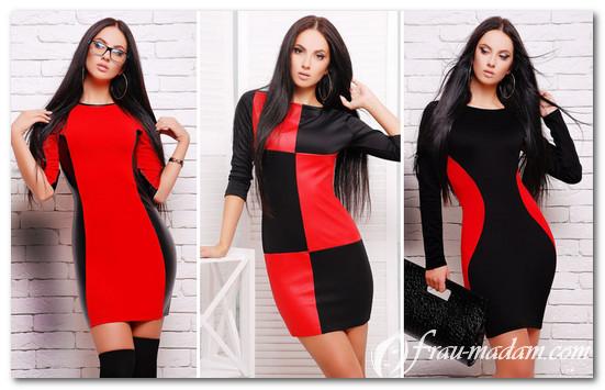 платья в черно красном цвете фото