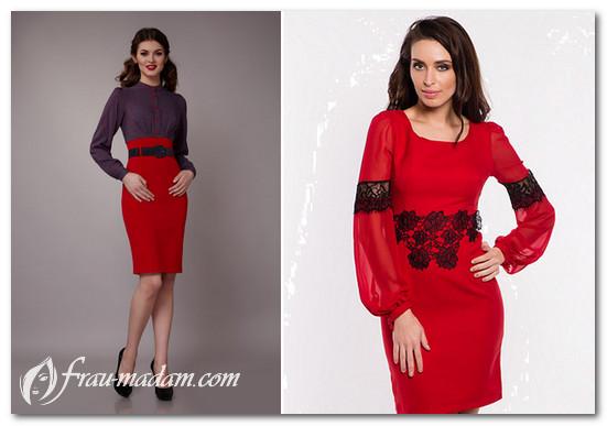 бордовые платья с красными