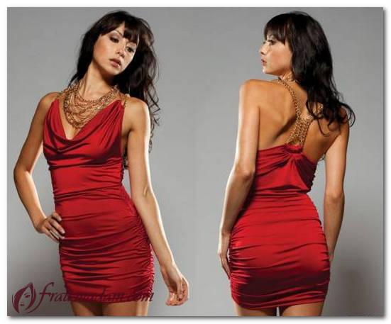 красные мини платья фото