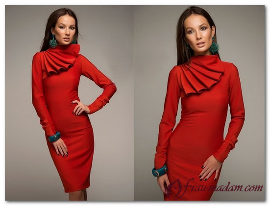 короткие вечерние красные платья