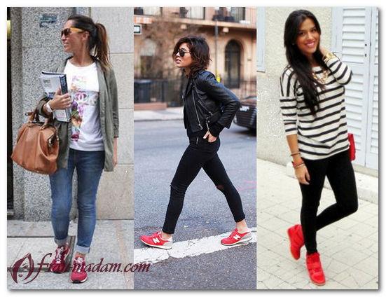 кроссовки красные женские фото