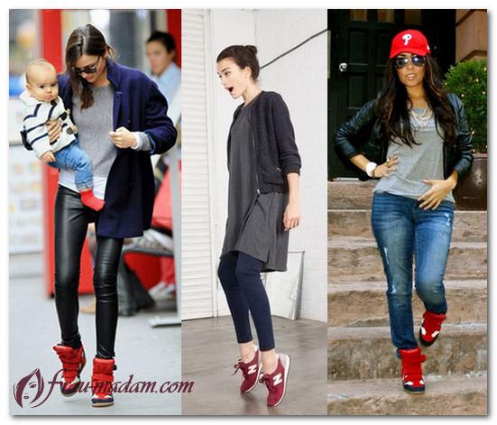 красные зимние кроссовки женские