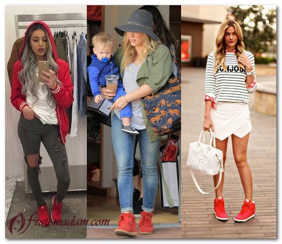 красные кроссовки женские