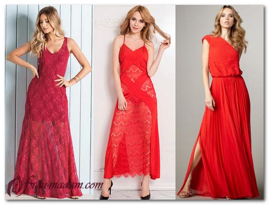 красное летнее платье с чем носить