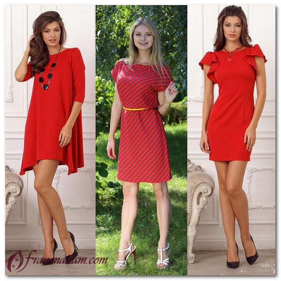 летние платья красного цвета аксессуары