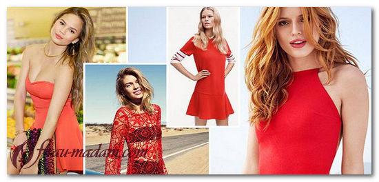 Красное летнее платье: с чем его носить и как?