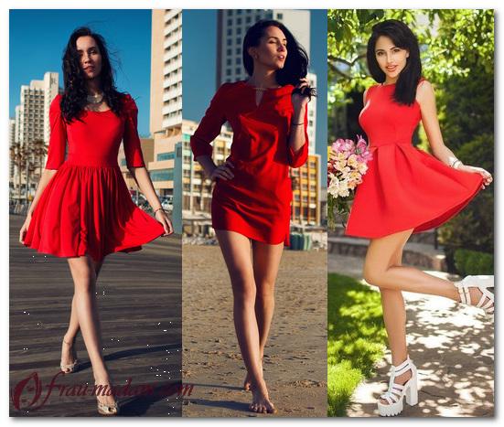 красные платья лето что надеть